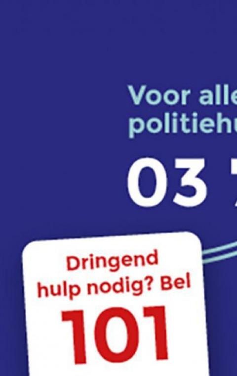 De politie van Sint-Niklaas start 'De Blauwe Lijn'