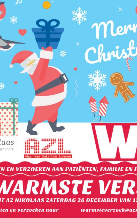 """""""Het Warmse Verzoek"""" op 26 december vanuit AZ Nikolaas en AZ Lokeren."""