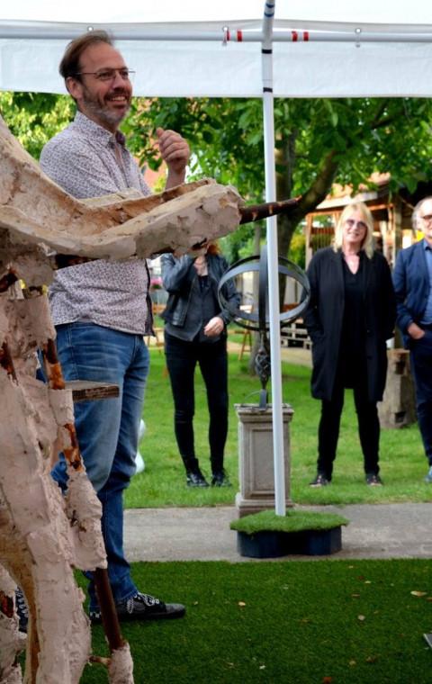 Kunst Academie Beeld uit Sint-Niklaas op bezoek in Lokeren.